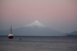 Vulkan Osorno mit Boot
