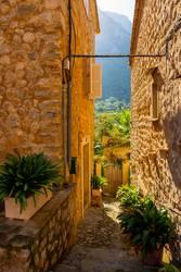 Bepflanzte Gassen von Sóller, Mallorca