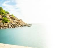 Diffuser Blick auf das Meer vor Mallorca