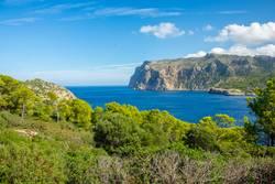 Blick von Insel zu Insel, Sa Dragonera nach Mallorca