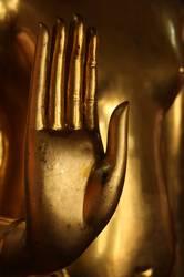 Buddhas goldene Hand