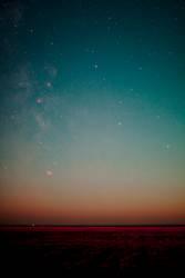 Nachthimmel über St. Peter-Ording mit Milchstraße