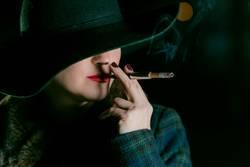 film noir smoker