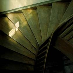 Treppe mit Licht