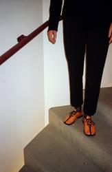 Orange Schuhe
