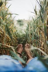 Sommerfüße im Feld