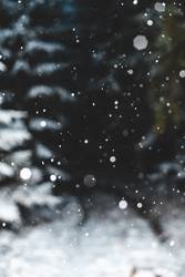 Schneefall!