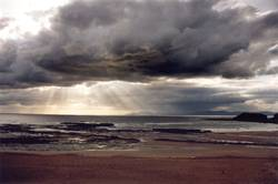 Meeresblick (bewölkt) in Irland