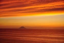 Stromboli im Sonnenuntergang