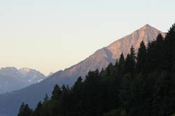 Bergblick am Morgen