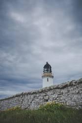 Leuchtturm, am Ende von Schottland