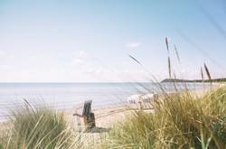 Genieße den Tag im Strandkorb