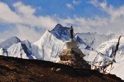 Eine Stupa in Tibet