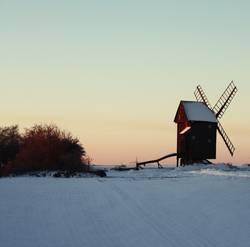 Bock-Windmühle im Schnee