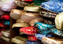 chinese silk slippers