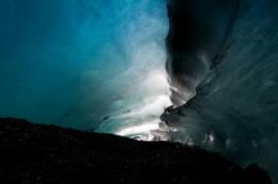 Gletscherhöhlen - Lebensgefahr !
