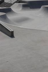 Skaterbahn mit Treppe