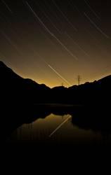 Stars in sunset