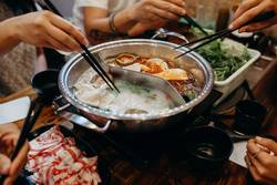 Korean hot pot meal.