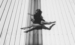 Dancer floating in the air