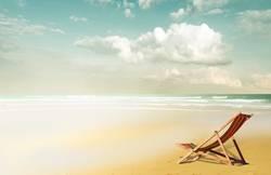 Liegestuhl am Strand