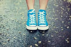 Regen unter den Füßen