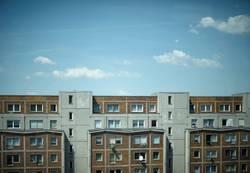 querhausansicht | himmel über berlin