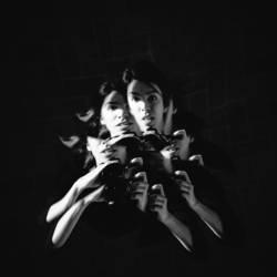 Vierarmiges Splitterportrait von einer Fotografin