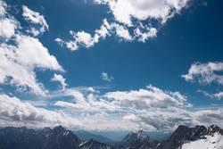 Blick auf Wolken von der Zugspitze