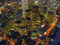 Toronto bei Nacht aus dem CN Tower