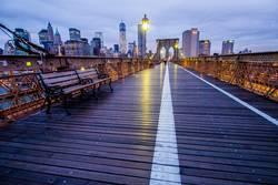 brooklyn bridge bench