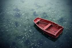 (k)ein knallrotes gummiboot