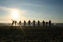 sunset friendship