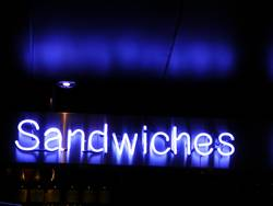 """neon """"sandwiches"""""""