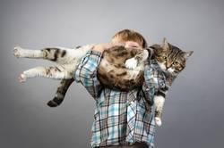 Junge mit der Katze