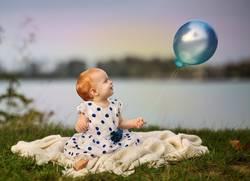 Mädchen und der Luftballon
