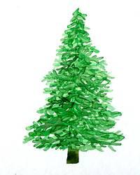 Weihnachtsbaum Aquarell