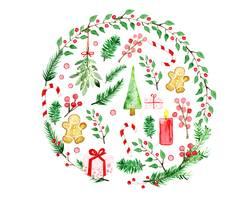Weihnachten Aquarell