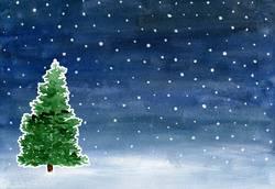 Aquarell Weihnachten