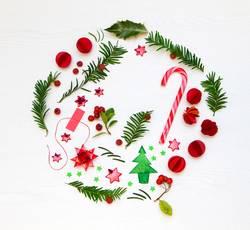 christmas flatlay