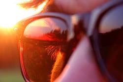 Sonnenbrille im Einsatz