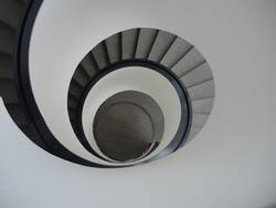 Design Wendeltreppe BLACK AND WHITE