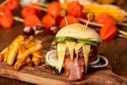 Monster-Burger für Halloween