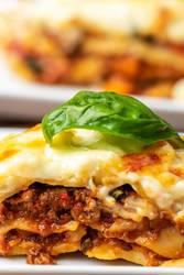 Nahaufnahme der Lasagne
