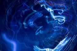 Bewegung abstrakt blau