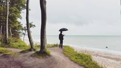 Ausblick mit Schirm