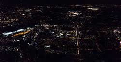 Luftaufnahme bei Nacht