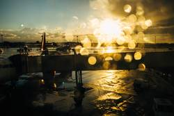 Regen am Flughafen