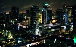 Skyline Bangkok bei Nacht