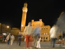 Siena, Piazza del Campo bei Nacht